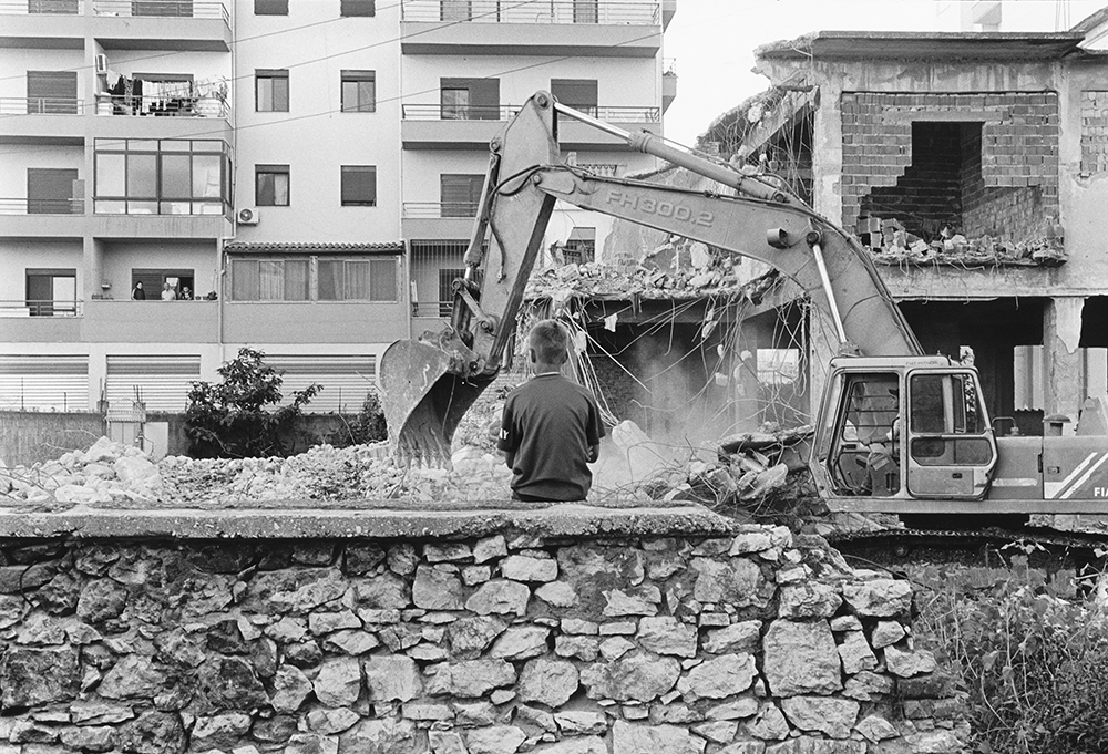 Demolishing communist apartment blocks, Vlora, Albania, 2012