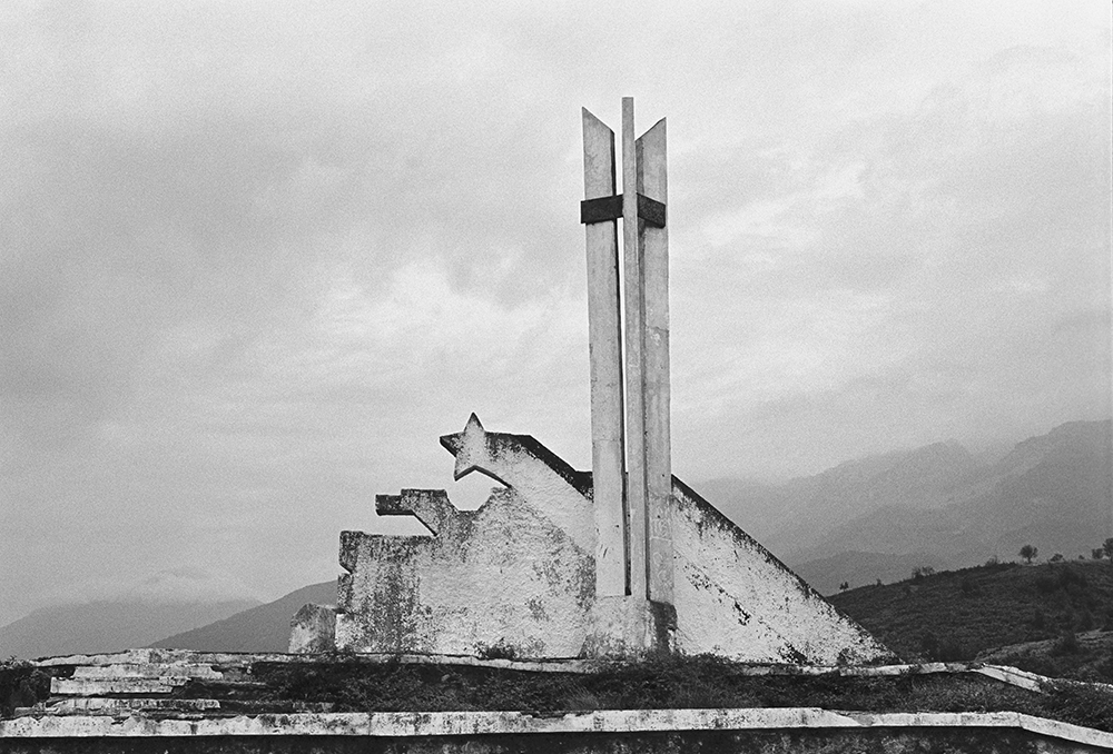 Monument, on the road between Bajram Curri and Tropoja, Albania, 2012