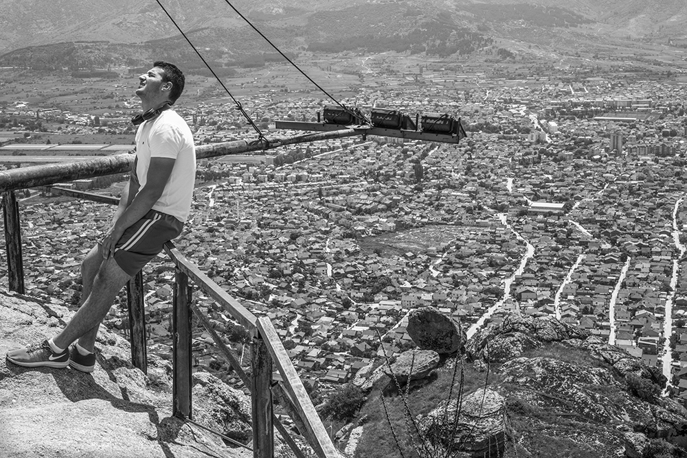 View over Prilep from the ruins of King Marko's castle, 2019